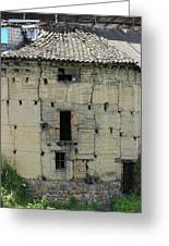Old Adobe Building In Otavalo Greeting Card