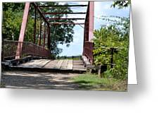 Old Alton Bridge In Denton County Greeting Card