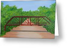 Old Alton Bridge Greeting Card