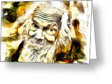 Old And Happy Man Greeting Card