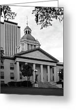 Old And New Florida State Capitol Buildings Greeting Card