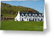 Old And New Iona Architecture Greeting Card