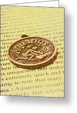 Old Aquarius Astrology Greeting Card