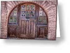 Old Arched Doorway-tucson Greeting Card