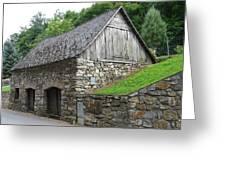 Old Austrian Barn Greeting Card