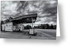 Old Auto Garage In Ellershouse Greeting Card