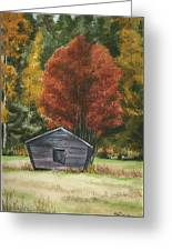 Old Autumn Greeting Card
