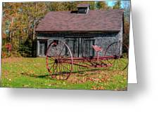Old Barn And Rusty Farm Implement 02 Greeting Card