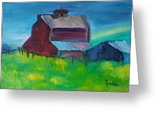 Old Barn And Shed  Greeting Card by Steve Jorde
