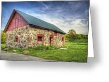 Old Barn At Dusk Greeting Card