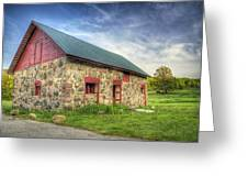 Old Barn At Dusk Greeting Card by Scott Norris