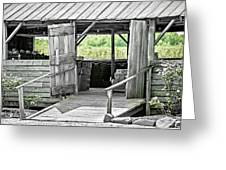 Old Barn At The Farm On Sunny Day Greeting Card