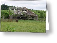 Old Barn Bones  Washington State Greeting Card