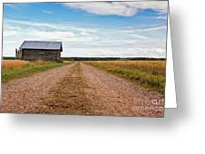 Old Barn By The Gravel Road Greeting Card