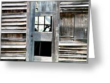 Old Barn Closeup Greeting Card