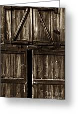 Old Barn Door - Toned Greeting Card