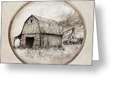 Old Barn Greeting Card by Eric Fan