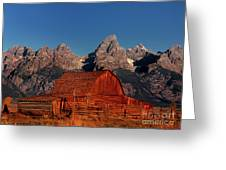 Old Barn Grand Tetons National Park Wyoming Greeting Card by Dave Welling