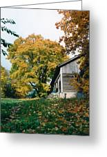 Old Barn In Autum Greeting Card