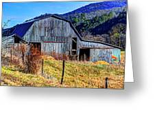 Old Barn In West Virginia Mountains 4836 Fusedt Greeting Card