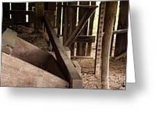Old Barn Interior Greeting Card