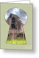 Old Barn Keyhole Greeting Card