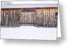Old Barn Musterfield Farm Greeting Card
