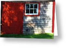 Old Barn New Paint Greeting Card
