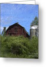 Old Barn On Summer Hill Greeting Card