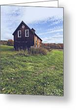 Old Barn Out In A Field Greeting Card