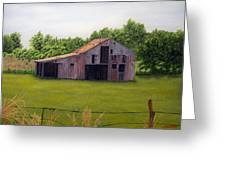 Old Barn  Poetry Tx Greeting Card