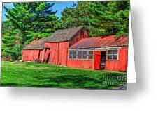 Old Barn Ridge Li.ny Greeting Card