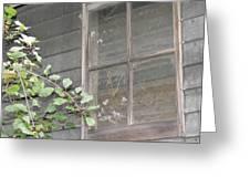 Old Barn Window Greeting Card