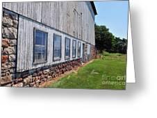 Old Barn Windows Greeting Card