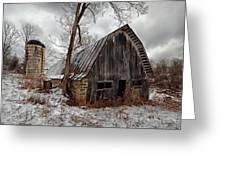 Old Barn Winter Greeting Card
