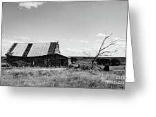 Old Barn With Tree Greeting Card