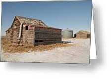 Old Barns And A Grain Bin Greeting Card