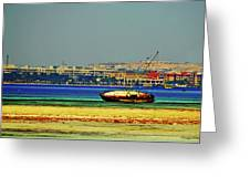 Old Barque Greeting Card by Chaza Abou El Khair
