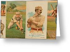 Old Baseball Cards Collage Greeting Card by Don Struke