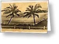 Old Beach Greeting Card