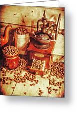 Old Bean Mill Decor. Kitchen Art Greeting Card