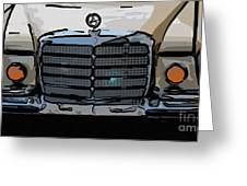 Old Benz Greeting Card
