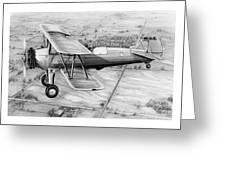 Old Bi Plane Greeting Card