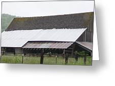 Old Big Barn Washington State Greeting Card