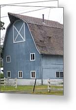 Old Blue Barn Littlerock Washington Greeting Card by Laurie Kidd