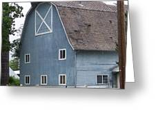Old Blue Barn Littlerock Washington Greeting Card