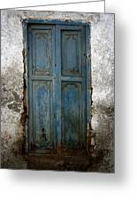 Old Blue Door Greeting Card by Shane Rees