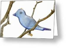 Old Bluebird Ornament Greeting Card