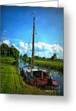 Old Boat In Holland Greeting Card