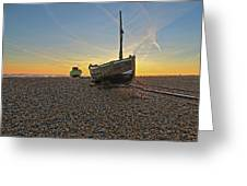 Old Boat, New Day Greeting Card